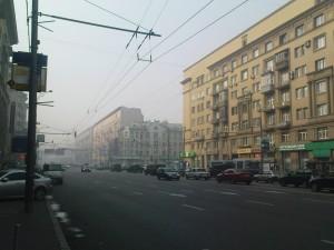 Prospekt Mira u smogu