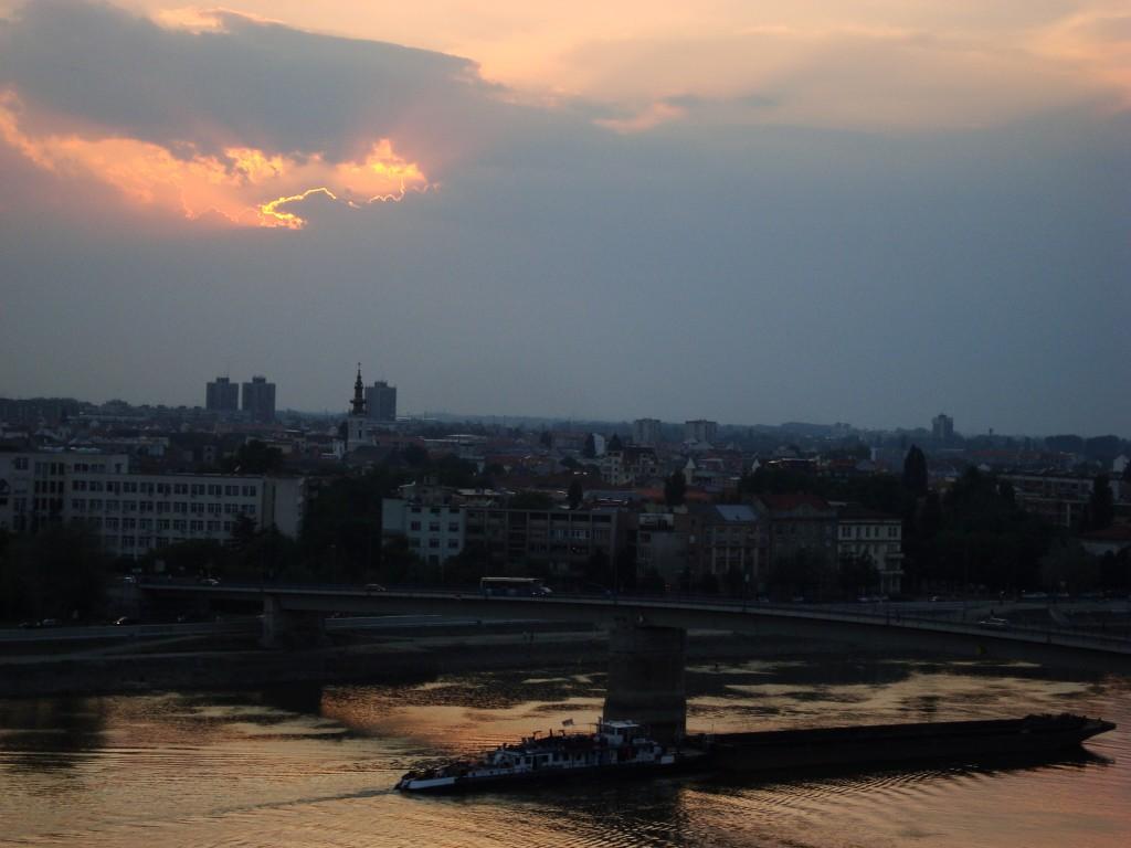 Novi Sad u sumrak